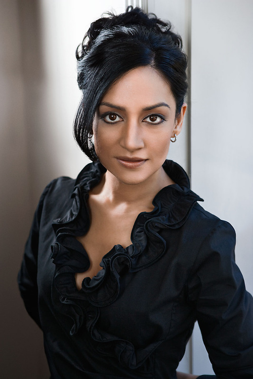 Advertising Image of Emmy-winning actress Archie Panjabi by Michel Leroy PHOTOGRAPHER