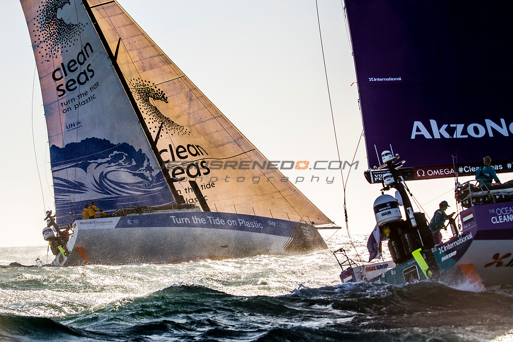 Start of  Leg 2. Day 1 from Lisbon to Cape Town. Photo by Jesus Renedo/Volvo Ocean Race. 05 November, 2017.