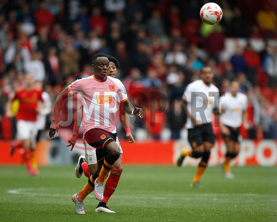 Moses Odubajo of Hull City in action - Mandatory byline: Jack Phillips / JMP - 07966386802 - 3/10/2015 - FOOTBALL - The City Ground - Nottingham, Nottinghamshire - Nottingham Forest v Hull City - Sky Bet Championship