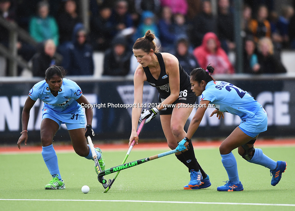 Pippa Hayward.<br /> Vantage Black Sticks Women vs India. International Hockey. Gallagher Hockey Centre. Hamilton. New Zealand. Friday 19 May 2017 &copy; Copyright Photo: Andrew Cornaga / www.photosport.nz