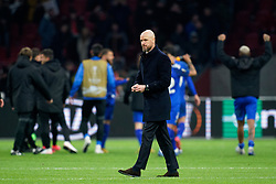 Coach Erik ten Hag after the Europa League match R32 second leg between Ajax and Getafe at Johan Cruyff Arena on February 27, 2020 in Amsterdam, Netherlands