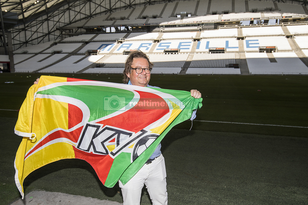 July 26, 2017 - Marseille, FRANCE - Oostende's chairman Marc Coucke pictured during a training session of Belgian first division soccer team KV Oostende ahead of the first leg of the third qualifying round for the UEFA Europa League competition, Wednesday 26 July 2017 in Marseille. KV Oostende plays against Olympic Marseille on Thursday...BELGA PHOTO LAURIE DIEFFEMBACQ (Credit Image: © Laurie Dieffembacq/Belga via ZUMA Press)