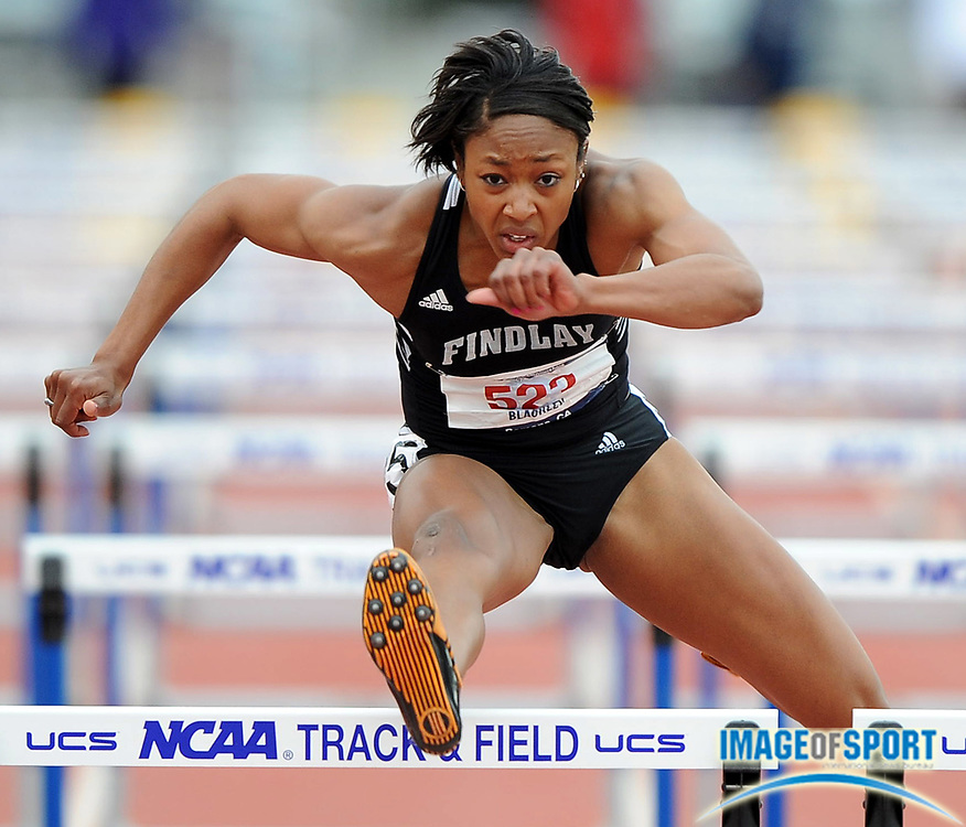 May 24, 2008; Walnut, CA, USA; Kirby Blackley of Findlay won the women's 100m hurdles in 13.29 in the NCAA Division II Track & Field Championships at Mt. San Antonio College's Hilmer Lodge Stadium.