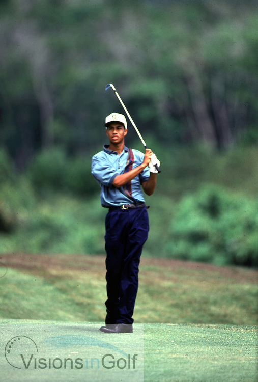940220/THAILAND/PHOTO MARK NEWCOMBE/JOHNNIE WALKER CHAMPIONSHIP<br /> <br /> TIGER WOODS<br /> THAILAND<br /> 1994