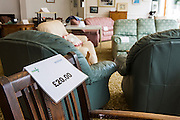 Furniture for sale in the StoreHouse second-hand charity shop in Wadebridge, North Cornwall, United Kingdom.