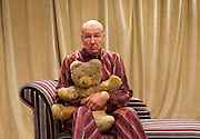 The Green Bay Tree <br /> by Mordaunt Shairp<br /> at the Jermyn Street Theatre, London, Great Britain <br /> press photocall <br /> 26th November 2014 <br /> directed by Tim Luscombe<br /> <br /> <br /> <br /> <br /> Alister Cameron as Trump <br /> <br /> <br /> Photograph by Elliott Franks <br /> Image licensed to Elliott Franks Photography Services