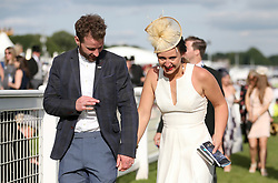 Racegoers on Derby Day of the 2017 Investec Epsom Derby Festival at Epsom Racecourse, Epsom. PRESS ASSOCIATION Photo. Picture date: Saturday June 3, 2017. See PA story RACING Epsom. Photo credit should read: Steven Paston/PA Wire. RESTRICTIONS: Editorial use only any intended commercial use is subject to prior Epsom Downs Racecourse approval. No Private Sales.