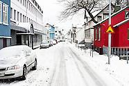 Snowy Reykjavik 101 downtown