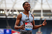 Zharnel HUGHES of Great Britain & NI after coming 2nd in the Men's 100m Final during the Muller Anniversary Games 2019 at the London Stadium, London, England on 20 July 2019.