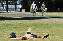 © Licensed to London News Pictures. 26/06/2017. GREENWICH, UK.<br /> Heatwave weather across the UK.<br /> The hot sunny weather continues today as people relax in the sun in Greenwich Park,Greenwich.<br /> Photo credit: Grant Falvey/LNP