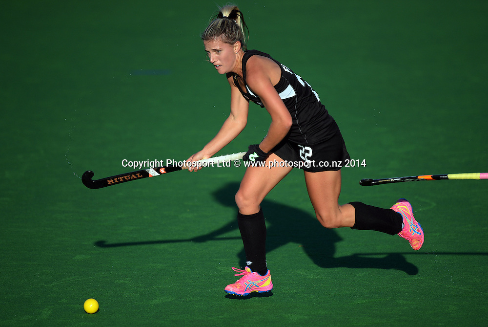Gemma Flynn. International Womens Hockey. New Zealand Black Sticks v Korea. Auckland. New Zealand. Friday 28 March 2014. Photo: Andrew Cornaga / www.photosport.co.nz