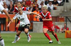 26.06.2011, Olympiastadion Berlin, Berlin, GER, FIFA Women's Worldcup 2011, Gruppe A,  Deutschland (GER) vs. Canada (CAN),. im Bild Kim Kulig  (GER) vs Sophie Schmidt  (CAN) during the FIFA Women's Worldcup 2011, Pool A, Germany vs Canada on 2011/06/26, Olympiastadion, Berlin, Germany.  .EXPA Pictures © 2011, PhotoCredit: EXPA/ nph/  Hessland       ****** out of GER / SWE / CRO  / BEL ******