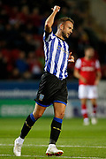 Jordan Rhodes of Sheffield Wednesday during the EFL Cup match between Rotherham United and Sheffield Wednesday at the AESSEAL New York Stadium, Rotherham, England on 28 August 2019.