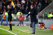 20-03-2016 VOETBAL:PSV-AJAX:EINDHOVEN<br /> Trainer/Coach Philip Cocu van PSV geeft aan dat het hands was<br /> <br /> Foto: Geert van Erven