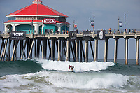 Huntington Beach, CA - August 06: Patrick Gudauskas competes in heat 4 of the mens quarter finals at the Vans US Open of Surfing in Huntington Beach, California on August 6th, 2017. (Photo Jim Kruger/Kruger-images.com)