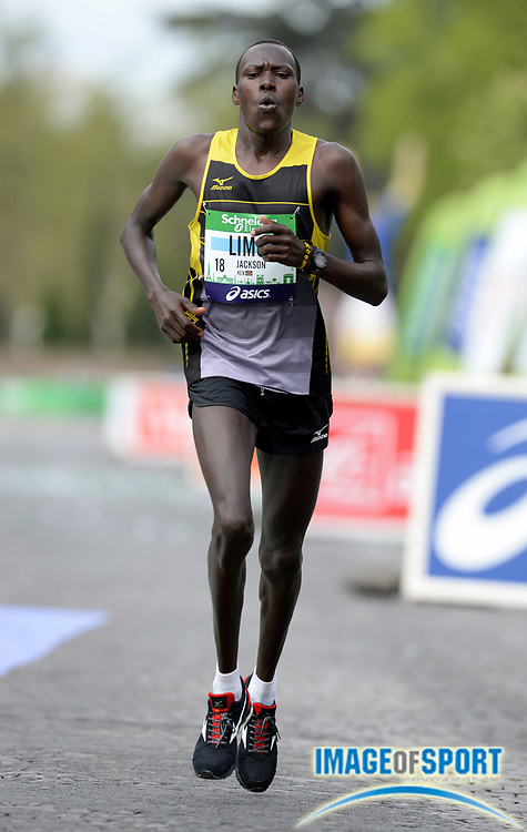 Apr 6, 2014; Paris, France; Jackson Limo (KEN) places fifth in the Schneider Electric Marathon de Paris in 2:09:05. Photo by Jiro Mochizuki
