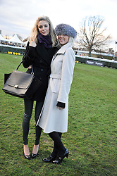 Lft to right, TAMSIN EGERTON and SOPHIA EGERTON at the 2012 Hennessy Gold Cup at Newbury Racecourse, Berkshire on 1st December 2012
