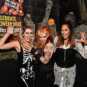 Larissa Eddie, Kelly Wild and HunnyB attend BBC1 All Together Now Series 1 Cast Members, fright night at The London Bridge Experience & London Tombs on 28 October 2018, London, UK.