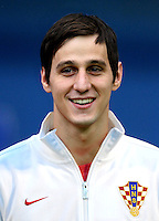 Football Fifa Brazil 2014 World Cup Matchs-Qualifier / Europe - Group A /<br /> Croatia vs Belgium 1-2  ( Maksimir Stadium - Zagreb , Croatia )<br /> Nikola Kalinic of Croatia , during the match between Croatia and Belgium