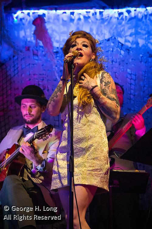 "Meschiya Lake performs at ""Splish: A Mermaid Masque"" performance at The Port on October 23, 2015"