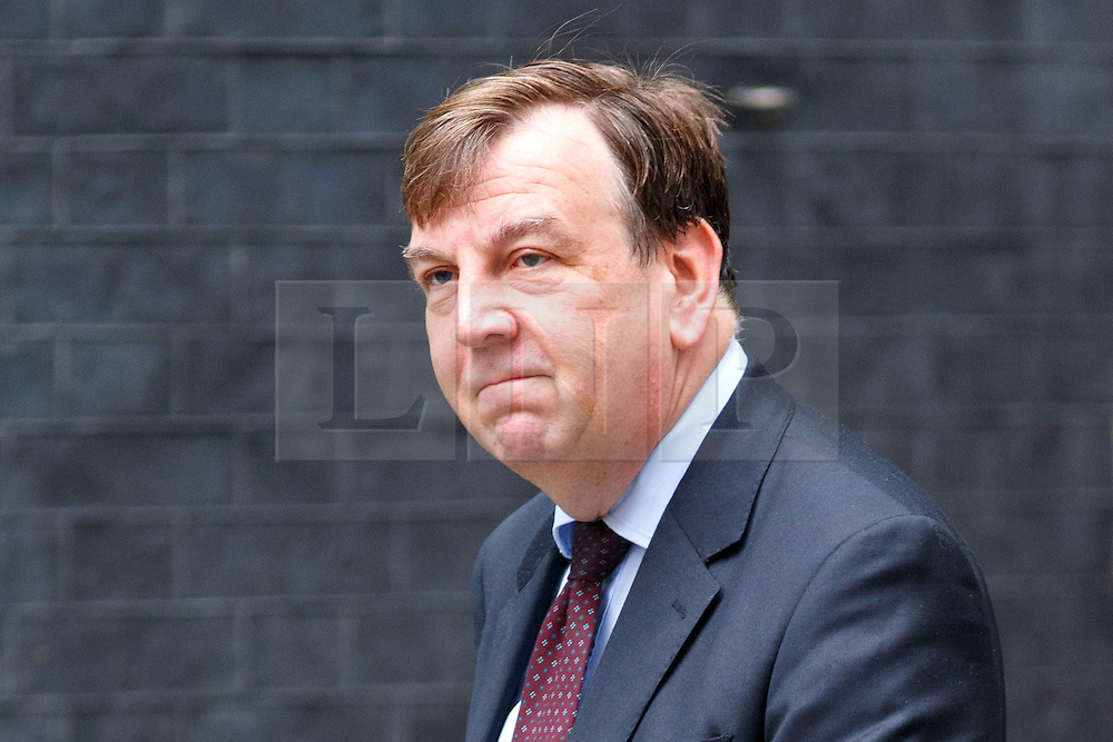 © Licensed to London News Pictures. 14/07/2015. London, UK. Culture, Media and Sport Secretary, John Whittingdale attending to a cabinet meeting in Downing Street on Tuesday, July 14, 2015. Photo credit: Tolga Akmen/LNP