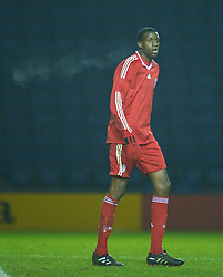 LEICESTER, ENGLAND - Tuesday, January 12, 2010: Liverpool's Michael Ngoo in action against Leicester City during the FA Youth Cup 4th Round match at the Walkers Stadium. (Photo by David Rawcliffe/Propaganda)