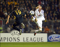 Fotball<br /> UEFA Champions League 2003/2004<br /> 21.10.2003<br /> Anderlecht v Celtic<br /> Foto: Digitalsport<br /> Norway Only<br /> <br /> <br /> BUXELLES BRUSSELS BRUSSEL 21/10/2003 FOOTBALL VOETBAL / UEFA CHAMPIONS LEAGUE : RSCA ANDERLECHT vs CELTIC GLASGOW FC / STILIAN PETROV / CHRISTIAN WILHELMSSON<br /> PICTURE : VINCENT KALUT - PHILIPPE CROCHET - JIMMY BOLCINA