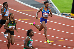 London, 2017 August 07. Phyllis Francis, USA, in the Women's 400m semi-final on day four of the IAAF London 2017 world Championships at the London Stadium. © Paul Davey.