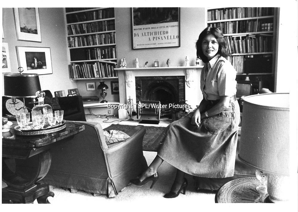 Joan Bakewell at her home in Chalcot Farm (Chalk Farm) in London <br /> 5th October 1978<br /> <br /> copyright TSPL/Writer Pictures<br /> contact +44 (0)20 822 41564<br /> info@writerpictures.com<br /> www.writerpictures.com