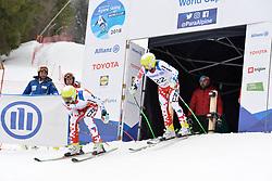 HETMER Patrik Guide: MACALA Miroslav, B2, CZE at 2018 World Para Alpine Skiing Cup, Kranjska Gora, Slovenia