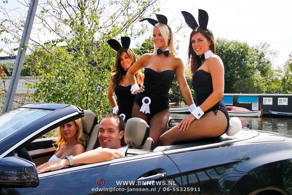 NLD/Amsterdam/20100708 - Presentatie Playboy met Robert Doornbos en bunny's,