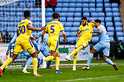 Wimbledon forward Jake Jervis (10), on loan from Luton Town, scores a goal to make the score 0-1 during the EFL Sky Bet League 1 match between Coventry City and AFC Wimbledon at the Ricoh Arena, Coventry, England on 12 January 2019.