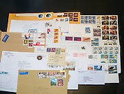A collection of used envelopes and letter