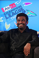 Muttiah Muralitharan during the official launch press conference and party for the Airtel Champions League T20 tournament (being held in South Africa in September 2010) held at Taboo nightclub in Sandton, Johannesburg on the 10 August 2010..Photo by..CLT20 / SPORTZPICS