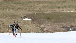 22.03.2018, Pichl-Preunegg bei Schladming, AUT, Red Bull Der lange Weg, Überquerung Alpenhauptkamm, längste Skitour der Welt, im Bild Philipp Reiter (GER), vorne, und David Wallmann (AUT) // during the Red Bull Der lange Weg, crossing of the main ridge of the Alps, longest ski tour of the world, in Pichl-Preunegg near Schladming, Austria on 2018/03/22. EXPA Pictures © 2018, PhotoCredit: EXPA/ Martin Huber