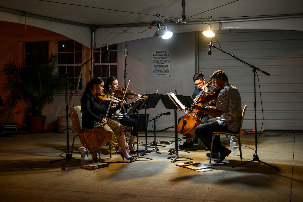 String quartet from the Akron Symphony performing at the NorthSide district during Akron Art Prize 2014.
