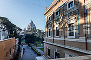 Rome, Vatican Museums, view of Saint Peter's Chapel from the entrance of the Pinacoteca