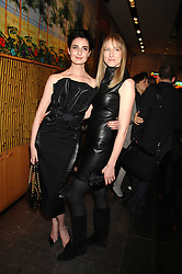 Left to right, ERIN O'CONNOR and JADE PARFITT at a party hosted by Mulberry to celebrate the publication of The Meaning of Sunglasses by Hadley Freeman held at Mulberry 41-42 New Bond Street, London on 14th February 2008.<br />