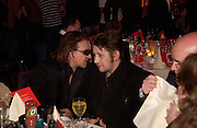 Bono and Shane  Mcgowan, The Q Awards 2004, Grosvenor House, London. 4 October 2004. ONE TIME USE ONLY - DO NOT ARCHIVE  © Copyright Photograph by Dafydd Jones 66 Stockwell Park Rd. London SW9 0DA Tel 020 7733 0108 www.dafjones.com