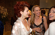 Cleo rocos and Catherine Walker. Book party for LAST VOYAGE OF THE VALENTINA by Santa Montefiore (Hodder & Stoughton) Asprey,  New Bond St. 12 April 2005. ONE TIME USE ONLY - DO NOT ARCHIVE  © Copyright Photograph by Dafydd Jones 66 Stockwell Park Rd. London SW9 0DA Tel 020 7733 0108 www.dafjones.com