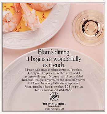 Hilton dining ad