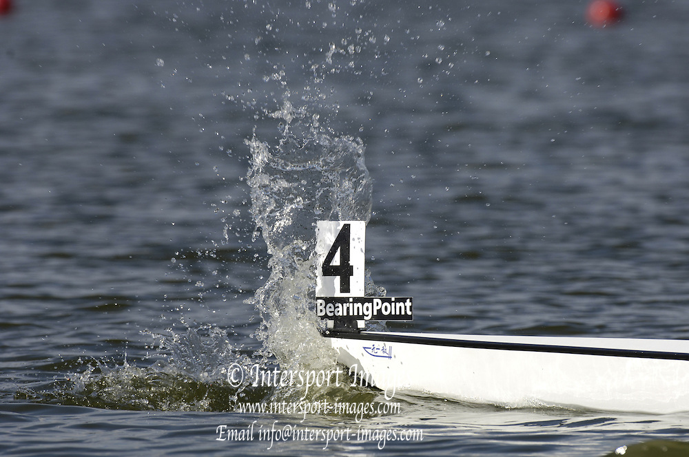 2005 FISA Junior  World Rowing Championships, Brandenburg, GERMANY. 05.08.2005.  The splash created by the staring  boot going down.. © Peter Spurrier/Intersport Images - email images@intersport-images..[Mandatory Credit Peter Spurrier/ Intersport Images] Rowing Course: Brandenburg, Havel Rowing Course, Brandenburg, GERMANY