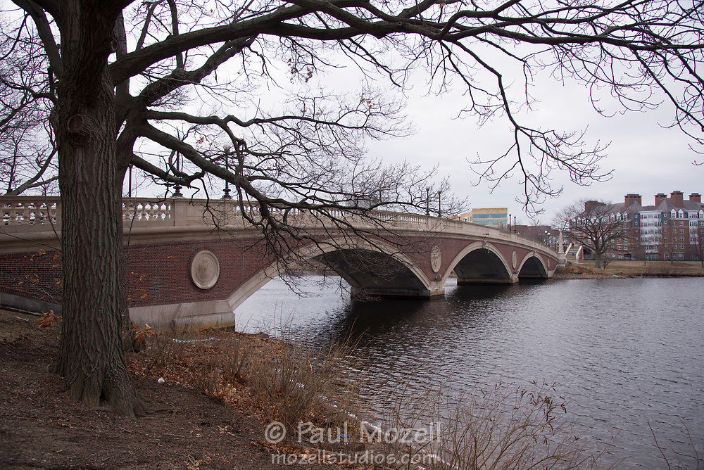 The  Charles W. Weeks Bridge is a foot bridge that spans the Charles River from Cambridge to Boston.