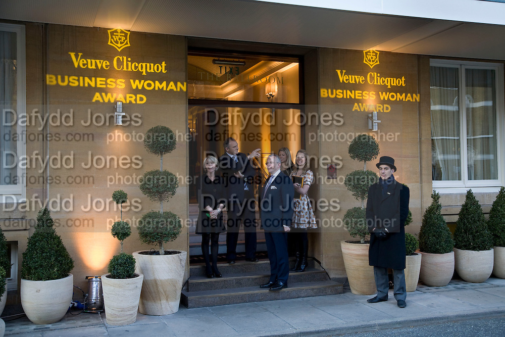 WAITING FOR THERESA MAY MP TO ARRIVE, Veuve Cliquot Business Woman Award. Berkeley Hotel 8 April 2008.  *** Local Caption *** -DO NOT ARCHIVE-© Copyright Photograph by Dafydd Jones. 248 Clapham Rd. London SW9 0PZ. Tel 0207 820 0771. www.dafjones.com.