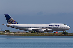 United Airlines Boeing 747-422 (N174UA) on the tarmac at San Francisco International Airport (SFO), Millbrae, California, United States of America