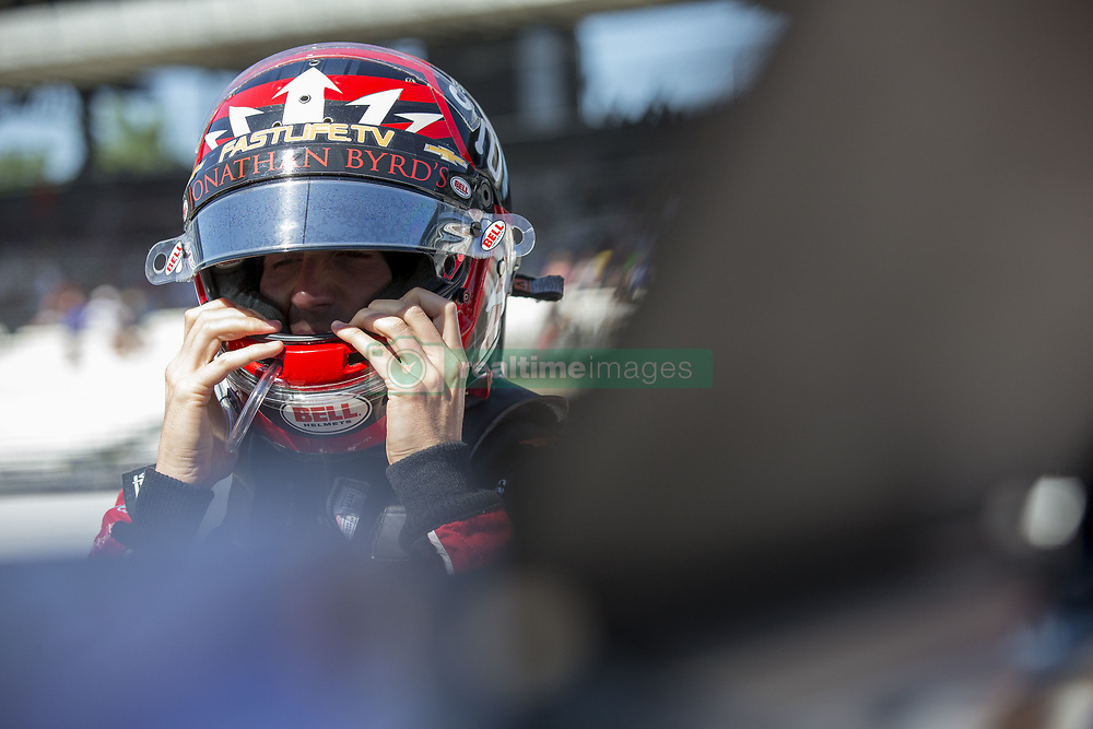 May 25, 2018 - Indianapolis, Indiana, United States of America - JAMES DAVISON (33) of Australia gets suited up to take to the track to practice for the Indianapolis 500 at the Indianapolis Motor Speedway in Indianapolis, Indiana. (Credit Image: © Justin R. Noe Asp Inc/ASP via ZUMA Wire)