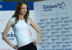 Model at fashion show of new jerseys of Slovenian Athletic National Team, on October 28, 2008, in Mercator center Siska, Ljubljana, Slovenia. (Photo by Vid Ponikvar / Sportal Images).