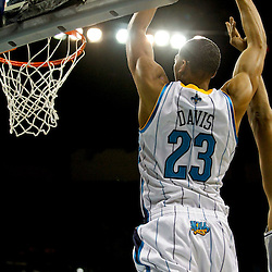Jan 7, 2013; New Orleans, LA, USA; New Orleans Hornets power forward Anthony Davis (23) dunks against the San Antonio Spurs during the fourth quarter of a game at the New Orleans Arena. The Hornets defeated the Spurs 95-88. Mandatory Credit: Derick E. Hingle-USA TODAY Sports