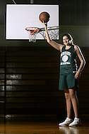 Minisink Valley eighth-grader Stefanie Dolson, who is already more than 6-feet tall, poses for a photograph after practice in the high school gym on Jan. 9, 2006 in Slate Hill.