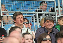 Peterborough and Republic of Ireland goalkeeper Conor O&rsquo;Malley brother of Brian watching on at McHale Park on saturday last.<br />Pic Conor McKeown